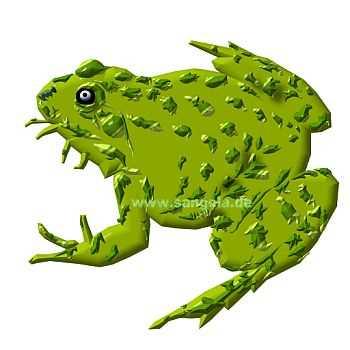 Лягушка (Frosch). Рисуем с помощью мышки на компьютере.