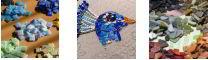 Мозаика из цветных стеклышек и керамики