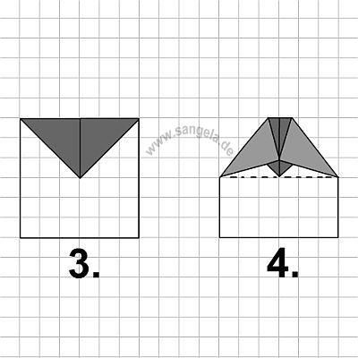 Подготовьте лист бумаги.  И попробуйте смастерить по схеме.
